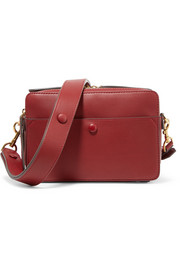 Anya Hindmarch Stack leather and suede shoulder bag