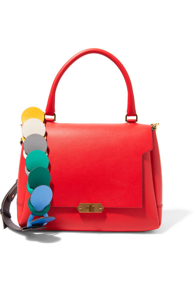Anya Hindmarch - Bathurst Small Leather Shoulder Bag - Red