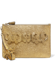 Anya Hindmarch Circulus large textured-leather pouch