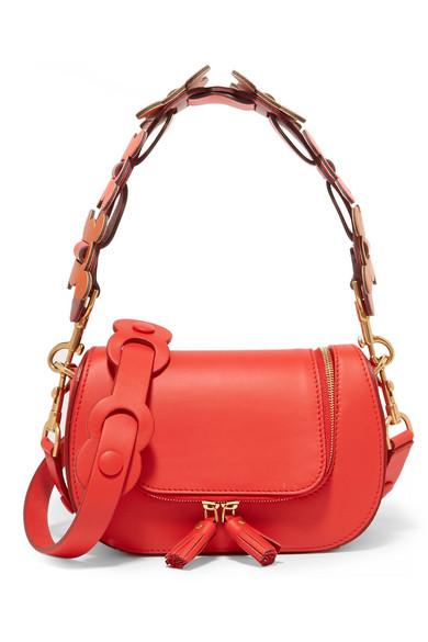 Anya Hindmarch - Vere Circulus Mini Leather Shoulder Bag - Red