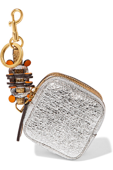 Anya Hindmarch - Circulus Metallic Textured-leather Coin Purse - Gold