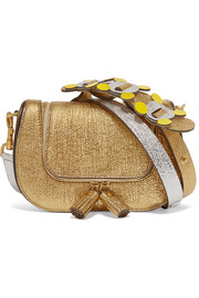 Anya Hindmarch Vere mini metallic textured-leather shoulder bag