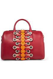 Anya Hindmarch Flip Vere Barrel laser-cut appliquéd leather tote