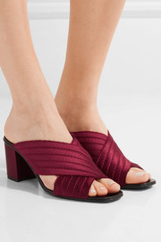Xail quilted satin mules