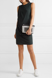 Draped cotton-jersey mini dress