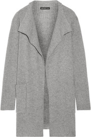 James Perse Waffle-knit cashmere cardigan