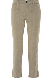 Workwear cotton-blend straight-leg pants