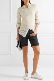 Stretch cotton and modal-blend twill shorts