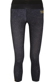 Tribal cropped stretch-jersey leggings