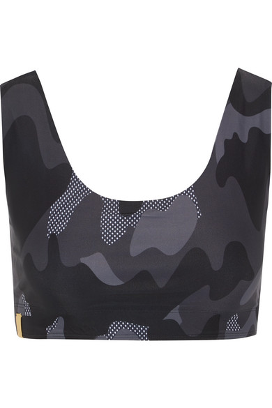 Monreal London - Tribal Printed Sports Bra - Black