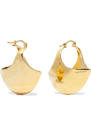 Acne Studios Nanni gold-plated earrings
