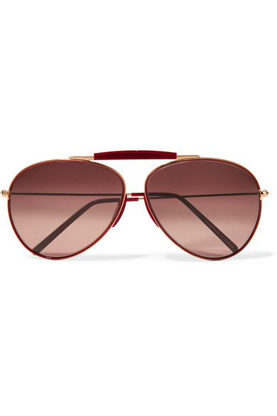 Cheap Price Wholesale Price Release Dates Cheap Online Spitfire Aviator-style Gold-tone Mirrored Sunglasses - one size Acne Studios TXwomH