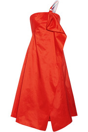 Peter Pilotto One-shoulder wrap-effect draped taffeta midi dress