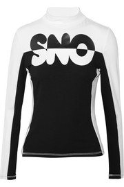 Topshop Sno Appliquéd stretch-jersey top