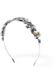 Bottega Veneta Burnished silver and gold-tone headband