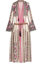 Etro Embroidered silk-jacquard maxi dress