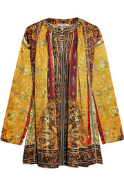 Etro Printed silk-satin twill tunic