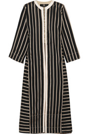 Etro Cotton-trimmed striped chiffon coat