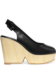 Robert Clergerie Dywood leather wedge sandals