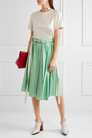 Marni Pleated cotton midi skirt