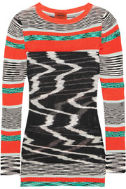 Missoni Layered ribbed-knit tunic