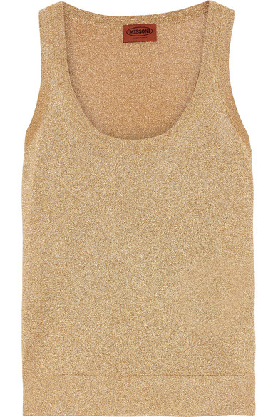 Missoni - Metallic Knitted Tank - Gold