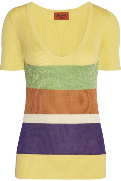 Missoni - Ribbed Cotton Top - Yellow
