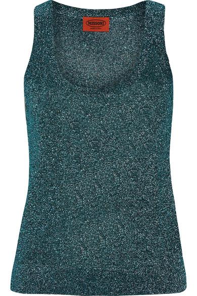 Missoni - Metallic Stretch-knit Tank - Petrol