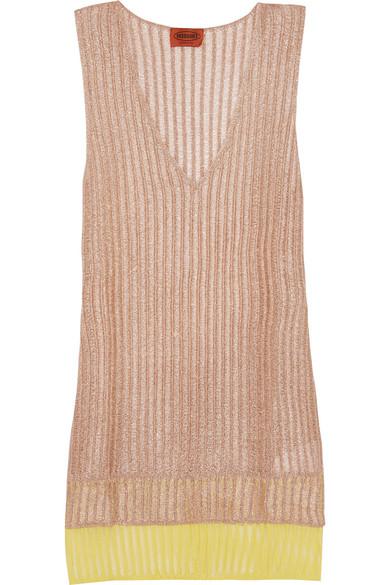 Missoni - Layered Metallic Crochet-knit Tunic - Pink