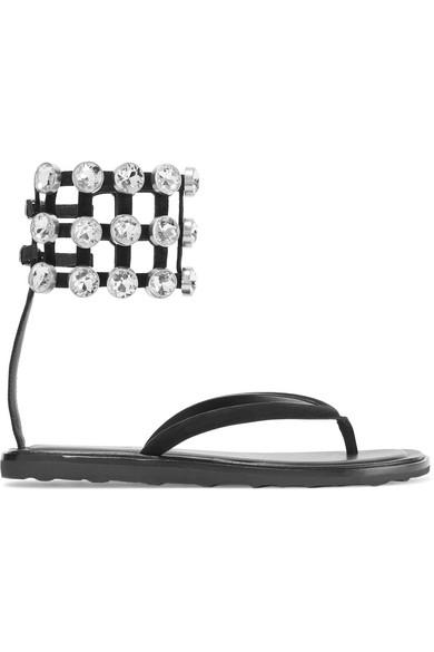Aubrey crystal embellished suede sandals