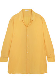 Oversized silk crepe de chine shirt