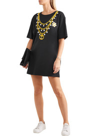 Moschino Oversized printed cotton-blend jersey T-shirt dress