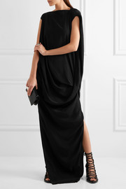 Nouveau draped crepe maxi dress