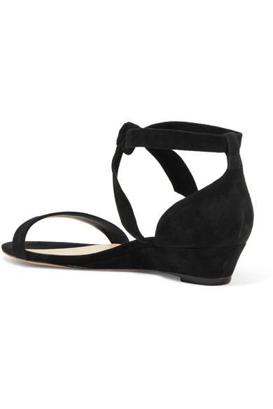 1aca1ddcbbf Alexandre Birman. Atena bow-embellished suede wedge sandals.  218. Zoom In