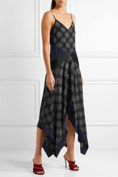 010f42e07b8 Diane von Furstenberg. Silk satin-paneled printed crepe midi dress