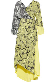 Diane von Furstenberg Printed silk crepe de chine wrap dress
