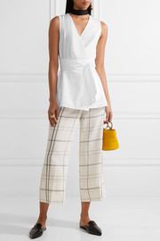 Diane von Furstenberg Cotton-poplin wrap top
