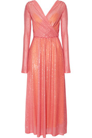 Emilio Pucci Sequined stretch-tulle gown