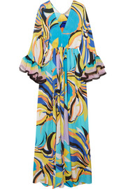 Emilio Pucci Chiffon-trimmed printed silk-georgette maxi dress