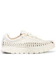 Nike Mayfly woven leather-trimmed faux suede sneakers