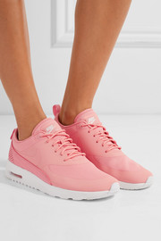 Nike Air Max Thea croc-effect leather-trimmed coated mesh sneakers