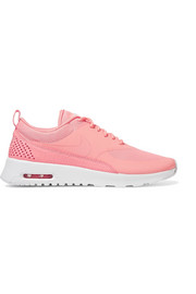 Air Max Thea croc-effect leather-trimmed coated mesh sneakers
