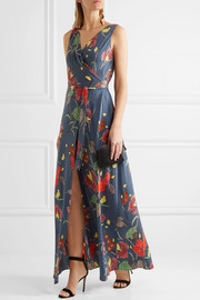 Diane von Furstenberg Printed silk-blend crepe de chine wrap dress