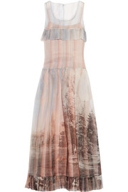 Fendi Royal Garden printed silk-organza gown