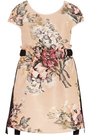 Metallic floral-jacquard mini dress