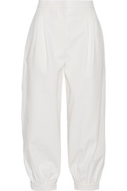 Fendi Cropped cotton-twill tapered pants