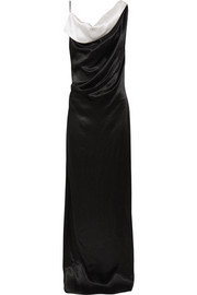 Lanvin Draped two-tone satin gown