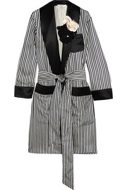 Lanvin Appliquéd striped satin jacket