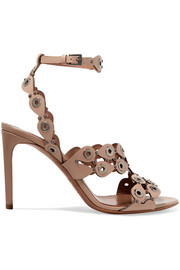 Alaïa Eyelet-embellished laser-cut leather sandals