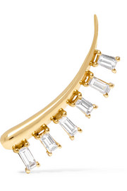 18-karat gold diamond ear cuff